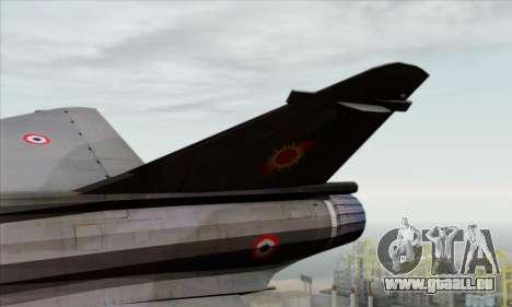 Dassault Mirage 2000-N SAM pour GTA San Andreas sur la vue arrière gauche