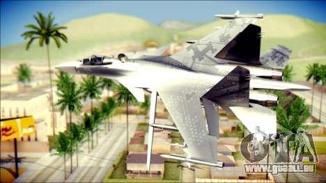SU-37 Hexagon Madness pour GTA San Andreas laissé vue