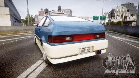 Dinka Blista Compact R für GTA 4 hinten links Ansicht