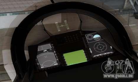 JAS-39 Gripen NG ACAH pour GTA San Andreas vue arrière
