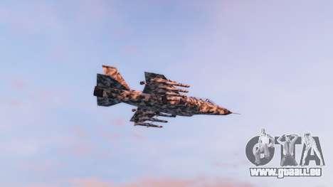 GTA 5 Hydra black & white camouflage deuxième capture d'écran