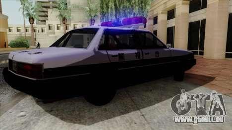 Karin Primo Police pour GTA San Andreas vue arrière