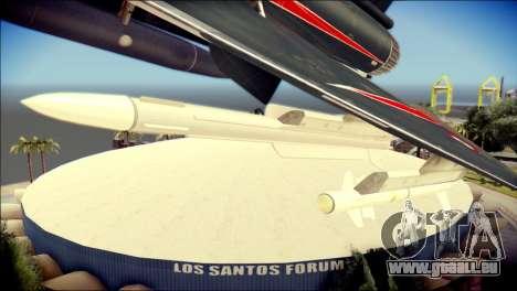 Dassault Mirage 2000-10 Black für GTA San Andreas rechten Ansicht