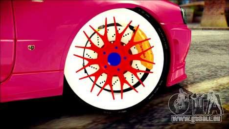 Nissan Skyline GTR V Spec II für GTA San Andreas zurück linke Ansicht