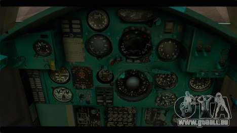MIG-31 Soviet für GTA San Andreas Rückansicht