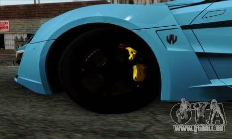 Lykan Hypersport 2014 EU Plate Livery Pack 2 für GTA San Andreas zurück linke Ansicht