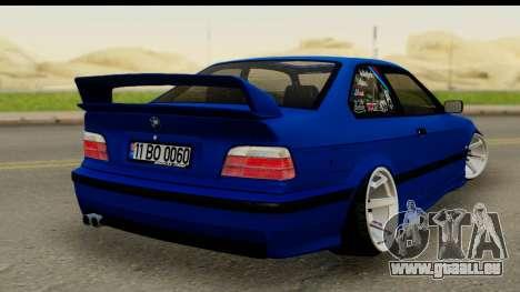BMW M3 E36 pour GTA San Andreas laissé vue