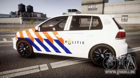 Volkswagen Golf Mk6 Dutch Police [ELS] pour GTA 4 est une gauche