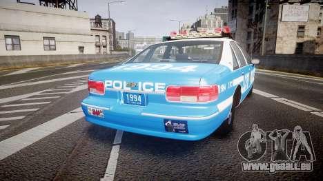Chevrolet Caprice 1994 LCPD Patrol [ELS] pour GTA 4 Vue arrière de la gauche