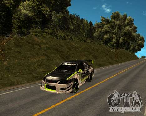 Mitsubishi Lancer Evolution IX Monster Energy DC pour GTA San Andreas