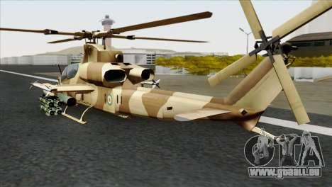 AH-1Z Viper IRIAF für GTA San Andreas linke Ansicht