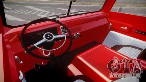 Dodge A100 Pickup 1964 für GTA 4 Rückansicht