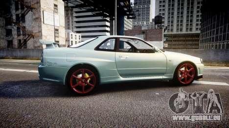 Nissan Skyline R34 GT-R M-Spec Nur pour GTA 4 est une gauche
