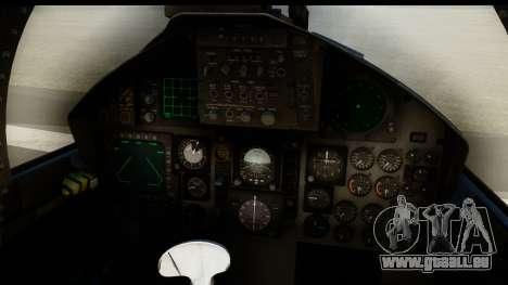 F-15C Eagle Desert Aggressor für GTA San Andreas zurück linke Ansicht