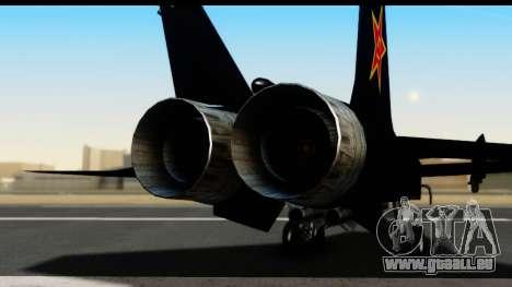 Mikoyan-Gurevich MIG-31 China Air Force für GTA San Andreas Rückansicht