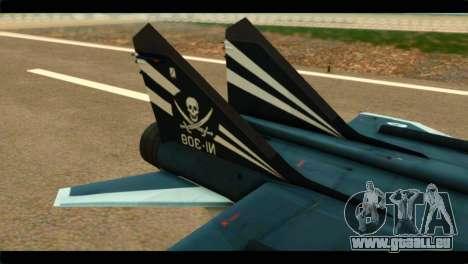 MIG-31 Pirat Squadron pour GTA San Andreas sur la vue arrière gauche