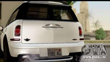 Mini Cooper Clubman 2011 pour GTA San Andreas vue de droite