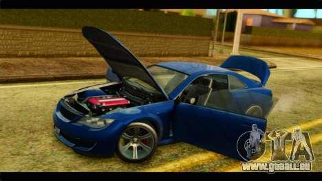 GTA 5 Ubermacht Zion XS für GTA San Andreas Rückansicht