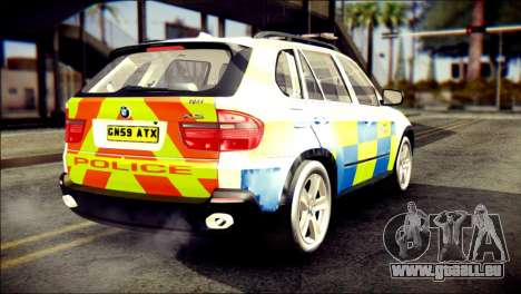 BMW X5 Kent Police RPU pour GTA San Andreas laissé vue