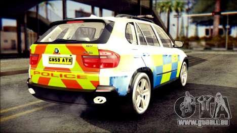 BMW X5 Kent Police RPU für GTA San Andreas linke Ansicht