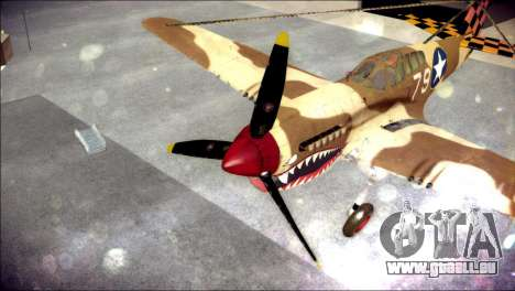 P-40E 325th Fighter Group für GTA San Andreas Rückansicht