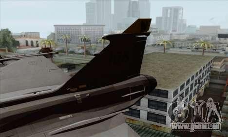 JAS-39 Gripen NG ACAH pour GTA San Andreas sur la vue arrière gauche
