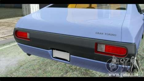 Ford Gran Torino für GTA San Andreas Rückansicht