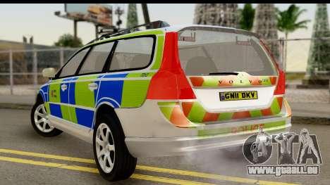 Volvo V70 Kent Police für GTA San Andreas linke Ansicht