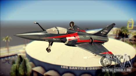 Dassault Mirage 2000-10 Black für GTA San Andreas