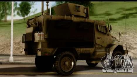 International MaxxPro MRAP für GTA San Andreas linke Ansicht
