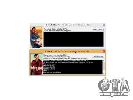 GTAV No intro video v0.9.8 pour GTA 5