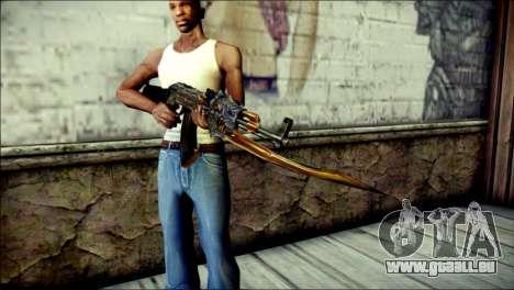AK-47 Inferno für GTA San Andreas dritten Screenshot