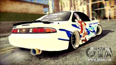 Nissan Silvia S14 Umi Sonoda Paintjob Itasha für GTA San Andreas linke Ansicht