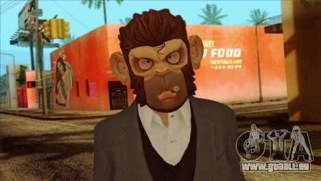 Skin from GTA 5 pour GTA San Andreas troisième écran