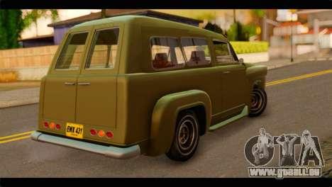 Chevrolet 56 pour GTA San Andreas laissé vue