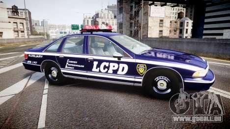 Chevrolet Caprice 1994 LCPD Auxiliary [ELS] pour GTA 4 est une gauche