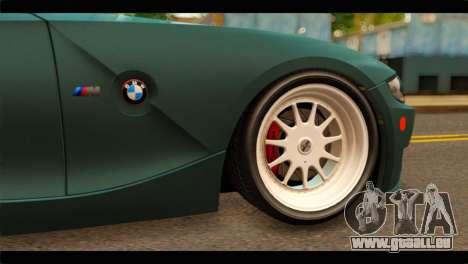 BMW Z4M Coupe für GTA San Andreas zurück linke Ansicht
