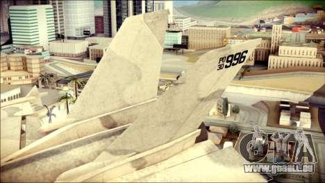 P-996 Lazer pour GTA San Andreas sur la vue arrière gauche