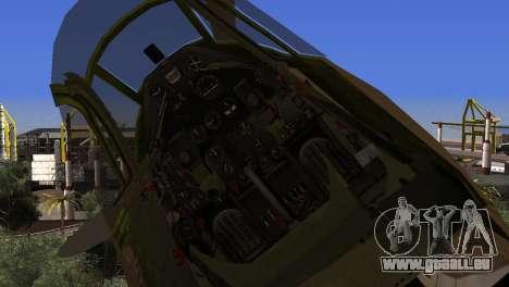 Pokryshkin P-39N Airacobra pour GTA San Andreas vue de droite
