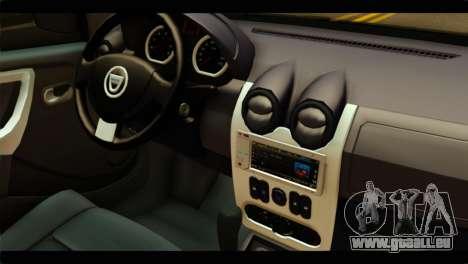 Dacia Logan Stance pour GTA San Andreas vue de droite