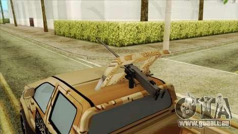 Toyota Hilux Siria Rebels pour GTA San Andreas vue de droite