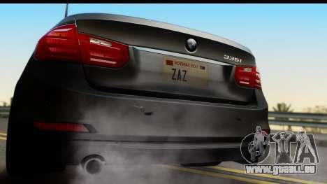 BMW 335i Coupe 2012 pour GTA San Andreas vue de droite