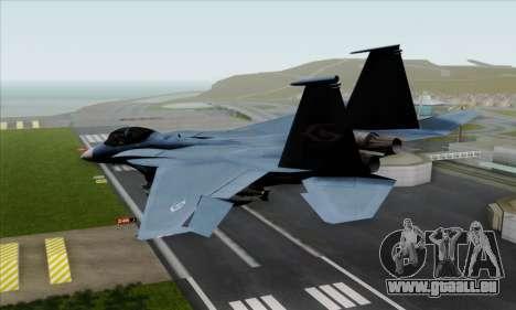 McDonnell Douglas F-15D Eagle GRDF pour GTA San Andreas laissé vue