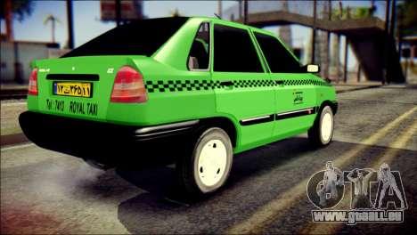 Kia Pride 141 Iranian Taxi pour GTA San Andreas laissé vue