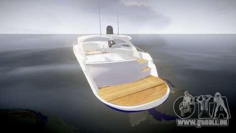 Yacht für GTA 4 hinten links Ansicht
