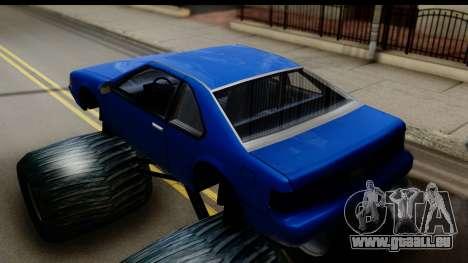 Monster Fortune pour GTA San Andreas sur la vue arrière gauche