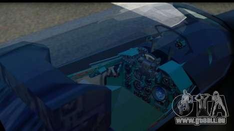 MIG-21F Fishbed B URSS Custom für GTA San Andreas Rückansicht