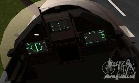 Dassault Mirage 2000-5 ACAH für GTA San Andreas Rückansicht