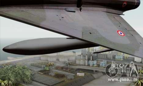 Dassault Mirage 2000-N SAM pour GTA San Andreas vue de droite