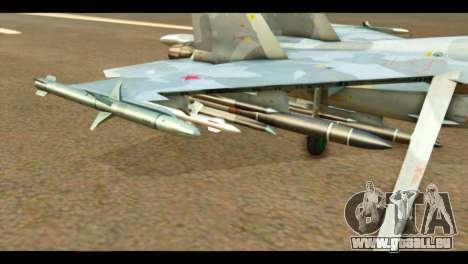 SU-37 Terminator Russian AF Camo pour GTA San Andreas vue de droite
